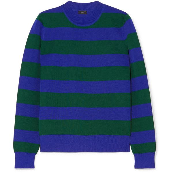 Joseph Striped knitted sweater ($345) ❤ liked on Polyvore