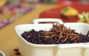 Risoto de arroz negro com bardana e cogumelo shitake - Bela Cozinha - Programas - GNT