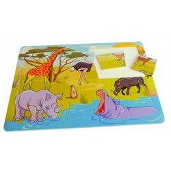 Witajcie, dziś coś od polskiego producenta zabawek drewnianych Pilch.   Pilch 110182 - Puzzle Safari dla 3 Latków składające się aż z 20 elementów. Wykonano z grubej sklejki.  Co przedstawia obrazek po ułożeniu? Sprawdźcie sami:)  #puzzle #safari #pilch #3latkow