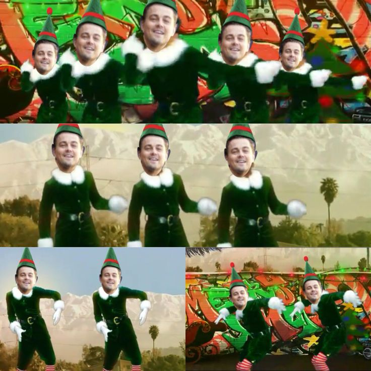 Leo in the Elf Yourself app  so funny