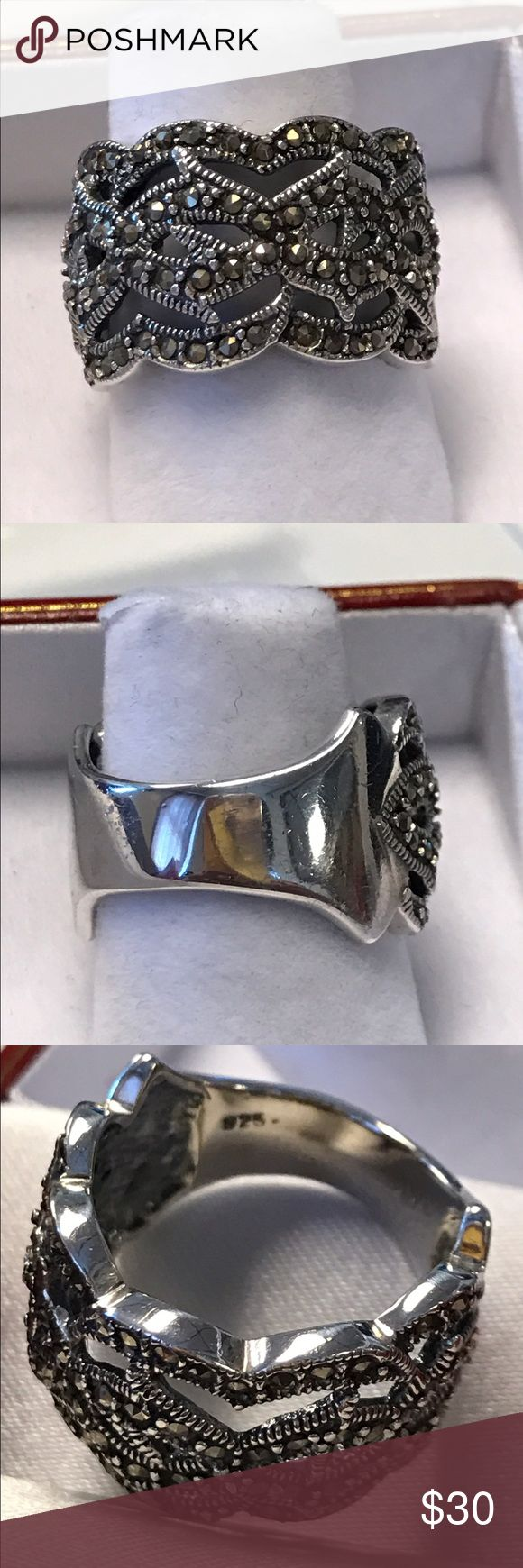 925 Sterling Silver Marquess Ring High quality Jewelry Rings