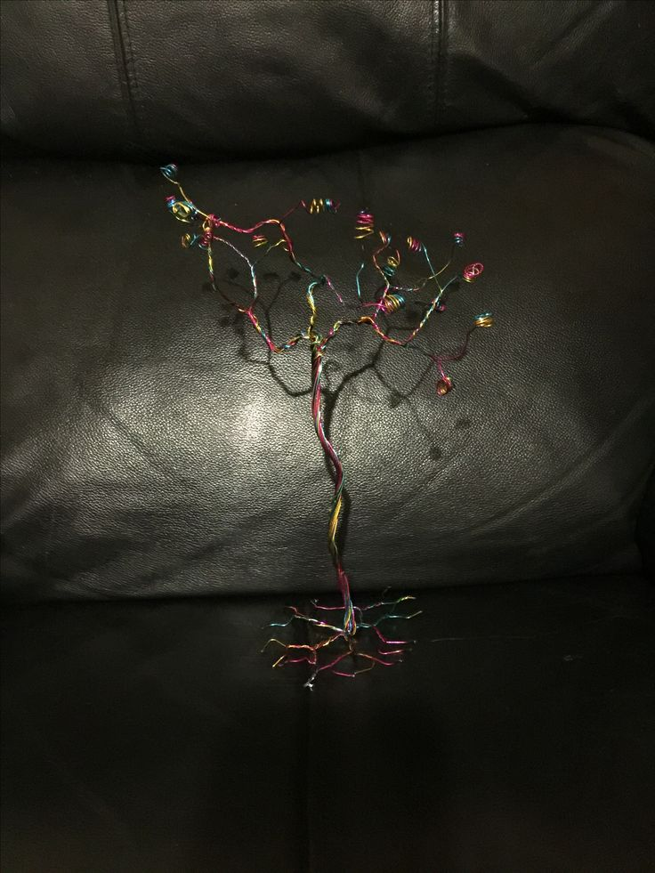 Experimentation using metal wire to create a tree