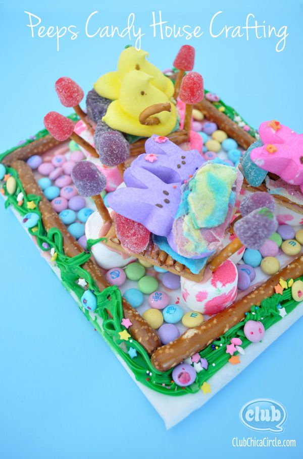Peeps Candy House Crafting with Kids - so fun and easy.