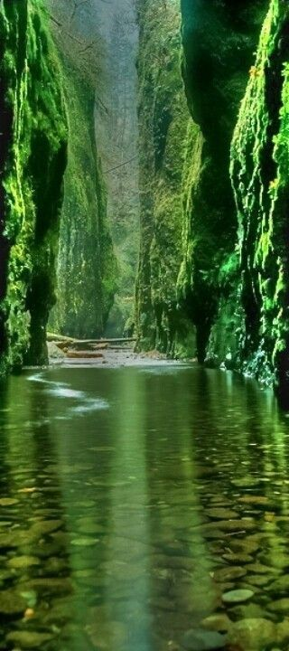 Emerald Gorge, Columbia River, Oregon, United States.