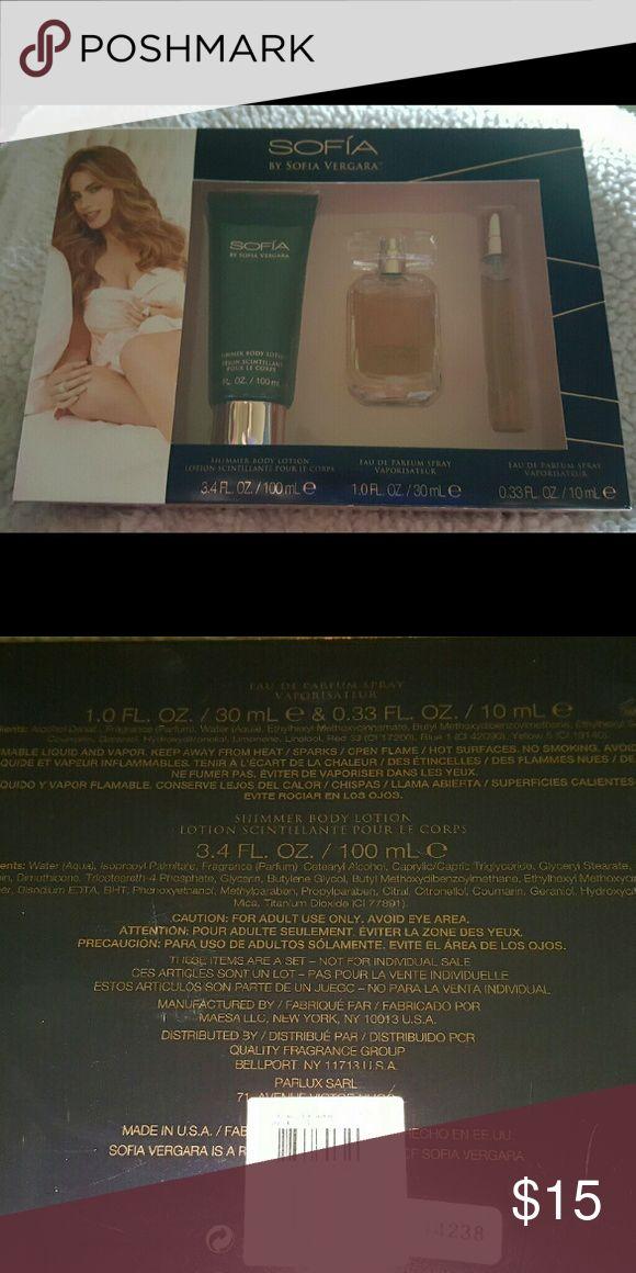 Sofia by Sofia Vargara Parfume.           K New Gift set includes lotion, Parfume and purse size parfume Sofia Vergara Other