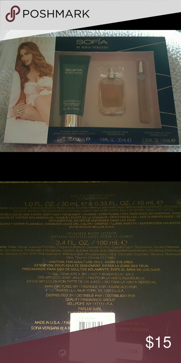 Sofia by Sofia Vargara Parfume.           K New Gift set includes lotion, Parfume and purse size parfume Sofia Vergara Other