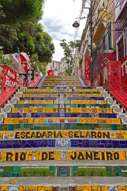 Escadaria Selaron in Rio de Janeiro, Brazil