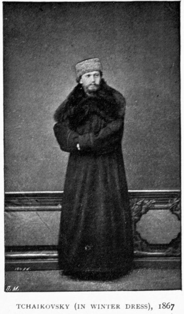 Pyotr Ilyich Tchaikovsky all bundled up.