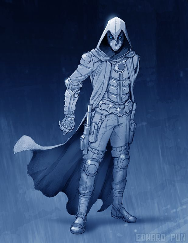 Moon Knight character design by Edward Pun