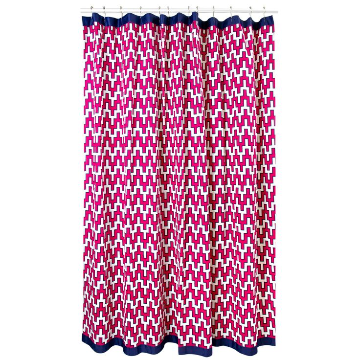 Modern Bath Linens | William Shower Curtain | Jonathan Adler
