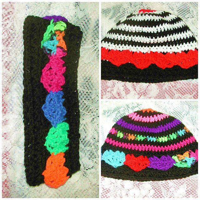 54 best gorro colores images on Pinterest | Sombreros de ganchillo ...
