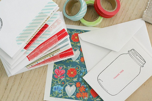 Washi tape to dress up envelopes