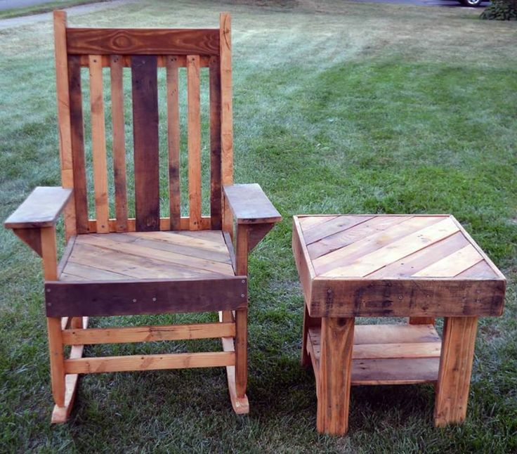 shipping pallet furniture ideas. pallet chair and side table 20 excellent furniture projects 101 pallets shipping ideas