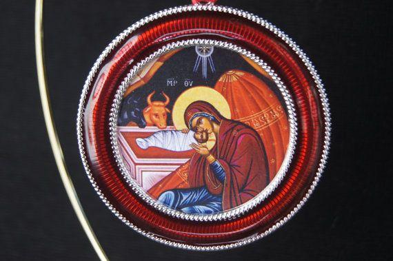 Greek Orthodox, Russian Orthodox, Catholic - red enamel ...