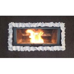 Frame design WROUGHT IRON for fireplace with or without LED. Customize creations. 400