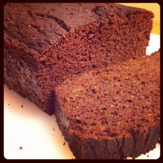 PrimalPal : Paleo Chocolate Zucchini Bread. Ingredients: coconut flour, cocoa powder, spices, baking powder, baking soda, zucchini, banana, butter or coconut oil, honey [only 1T], eggs, vanilla.  #paleobread #paleotreat