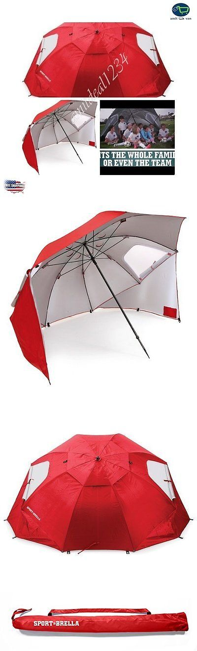 Canopies and Shelters 179011: Sport-Brella Beach Chair Sport Umbrella Sun Tent Rain Shelter Full Size Red -> BUY IT NOW ONLY: $65.93 on eBay!