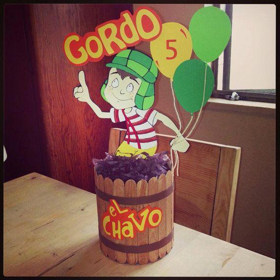 El Chavo del Ocho birthday party centerpiece by CuteCreationShop1, $25.00