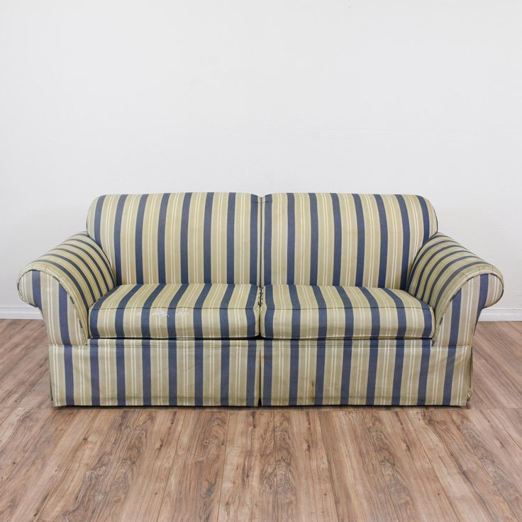 Best Striped Blue Beige Sleeper Sofa Vintage Sofa Sleeper 400 x 300