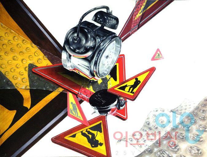 알람시계(스틸) & 표지판 & 뽁뽁이(투명체)