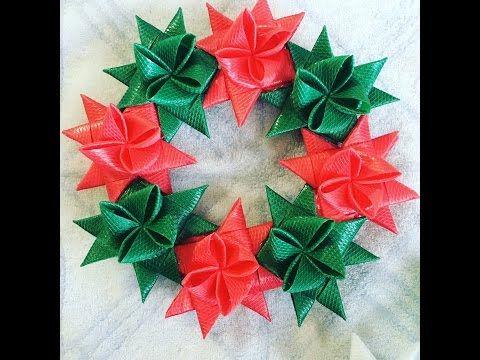 季節外れ物1 PPバンドのクリスマスリース - YouTube