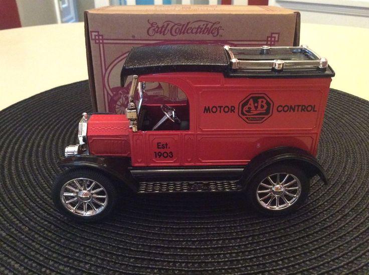 Ertl Collectibles Allen Bradley Ford Model T Die Cast Metal Vehicle Coin Bank! #Ertl #Ford
