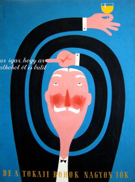 Konecsni György (1908-1970) A tokaji borok nagyon jókt empera, farost, 122 x 91 cm, j.b.f.: Konecsni 39