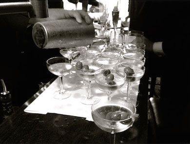 Our friend Oliver teaches us how to whip up an insanely good dirty martini.