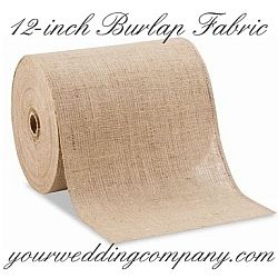 Burlap, also known as jute, is a perfect accent fabric for rustic or vintage-themed wedding decorations. Burlap can be tied around mason jars and candles, or used as fabric to accent ring pillows, tabletops, chair backs, pews and more. http://www.yourweddingcompany.com  #burlap #wedding #decorations
