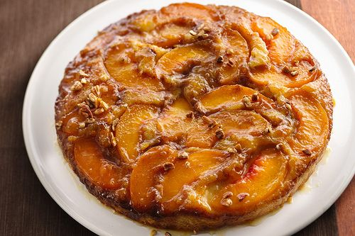 Caramelized Peach Upside-Down Coffee Cake: Peaches Cakes, Sugar Cookies Dough, Peaches Upside Down, Peaches Coffee Cakes, Upside Down Coffee, Caramel Peaches, Peaches Upsidedown, Peaches Coff Cakes, Peach Coffee Cakes