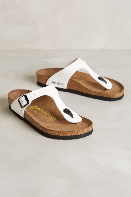 Birkenstock Gizeh Sandals - anthropologie.com. For Gemma 39. White is 2nd choice. Pastel pink is 1st choice.