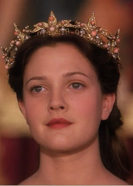 ever after. crown. drew barrymore