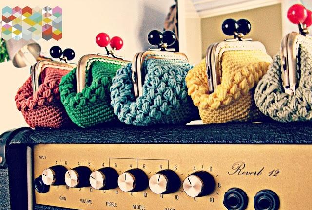 Monederos crochet 7 & Tutorial punto piña #hamoraima