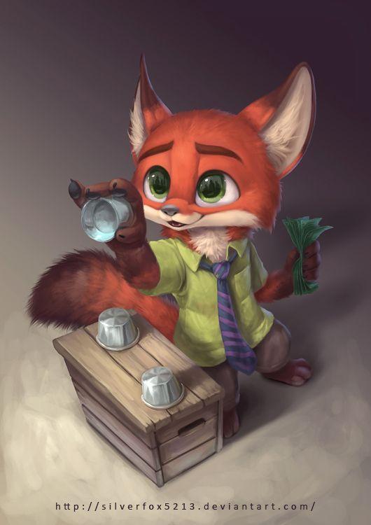 Foxes and Kitsune (Lil Con Fox by Silverfox5213.deviantart.com on @DeviantArt)