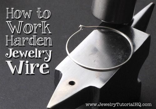 How to Work Harden Jewelry Wire: Wire hardness is an important part of successful wire jewelry designs. This article explains several methods for work hardening jewelry wire before and after you create your designs.