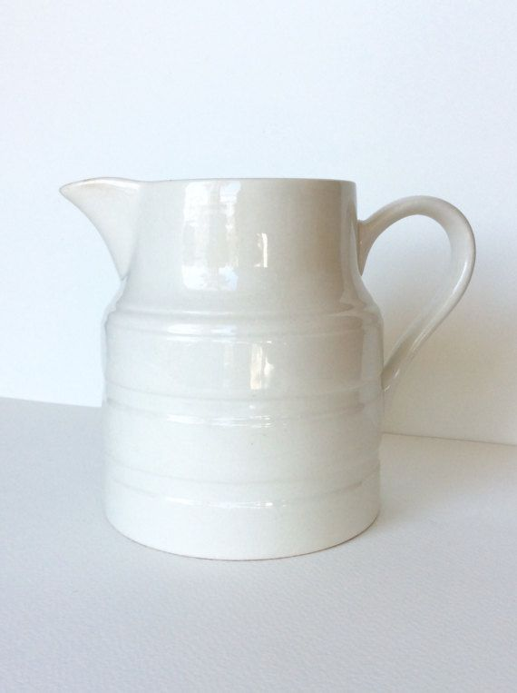 Pitcher. Off white pitcher. Lord Nelson by SouthofFranceFinds