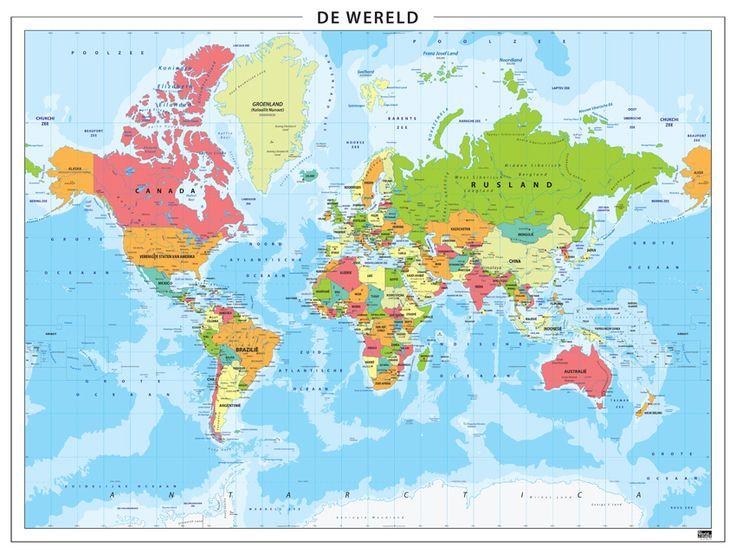Wereldkaart staatkundig 315 kaartenenatlassen world maps wereldkaart staatkundig 315 kaartenenatlassen world maps pinterest dutch gumiabroncs Choice Image