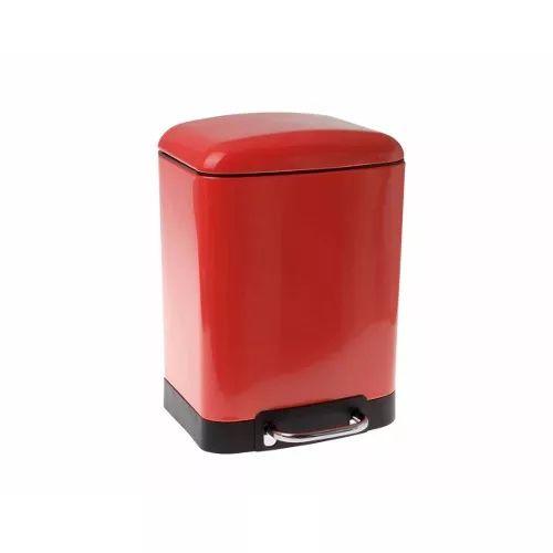 Lixeira Retro Vintage Modern 6 Litros Cor Vermelha Cozinha - R$ 216,00