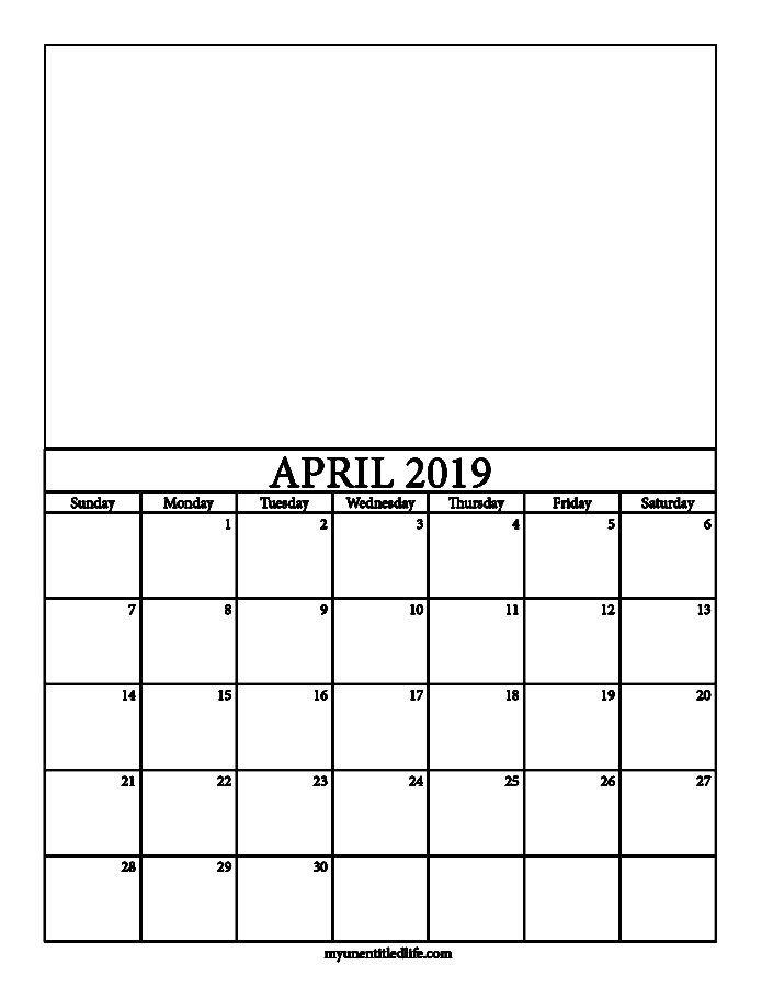 2019 Decorate Your Own Calendar Free Printable Kids Calendar