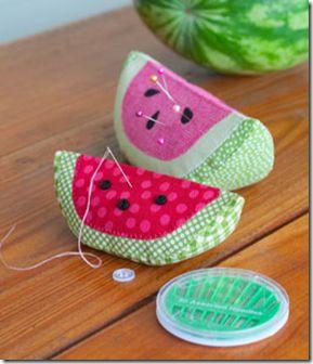 Watermelon pincushion
