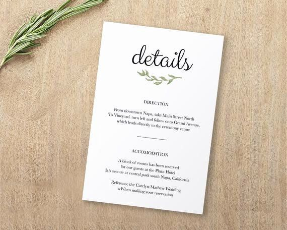 Wedding Information Card Template Free Luxury Wedding Enclosure Card Details Card Informa Wedding Card Templates Wedding Enclosure Cards Free Wedding Templates