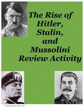 the rise of totalitarianism in europe This unit analyzes the rise of totalitarian governments after world war i priority  standards  distractions in europe and the united states prior to the outbreak of .