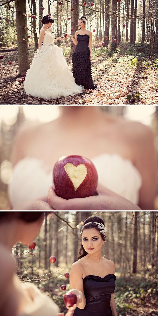 Not for me, but still a cool idea. Snow White Bridal Shoot :)