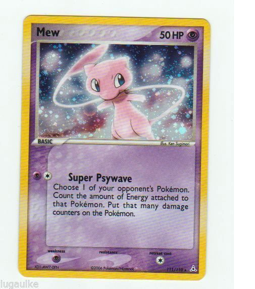 Pokemon Card EX Holon Phantoms Holo Secret Rare Mew 111/110