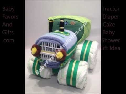 Tractor diaper cake, John Deere baby shower gift ideas, Baby shower centerpiece, Baby shower table decoration from http://babyfavorsandgifts.com/advanced_search_result.php?keywords=tractor+diaper+cake=0=0  Tractor baby shower theme,  John Deere baby shower ideas