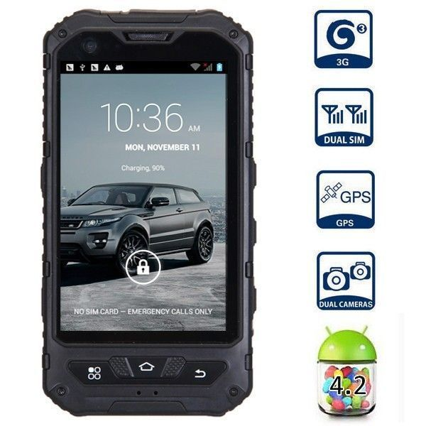Land Rover A8 Ip67 Waterproof Smartphone 2 Sim Card 3g