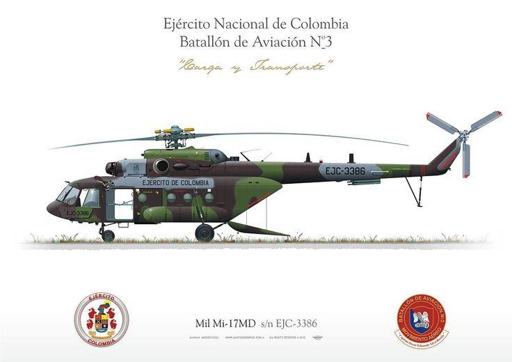 COLOMBIAN ARMY . EJÉRCITO NACIONAL DE COLOMBIA Batallón de Aviación No3