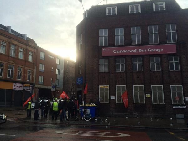 Bus strike picket line, Camberwell Bus garages London - Google Search