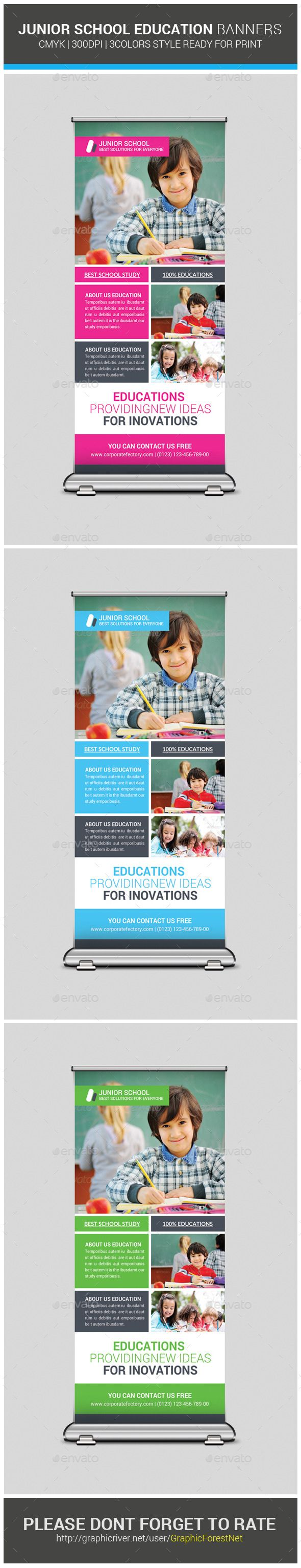 Junior School Education Rollup Banners