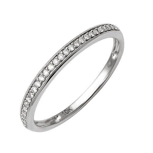 10k White Gold Diamond Wedding Anniversary Ring Band 1 10 Carat